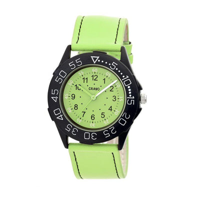 Crayo Fun Leather-Band Unisex Watch - Lime CRACR2506