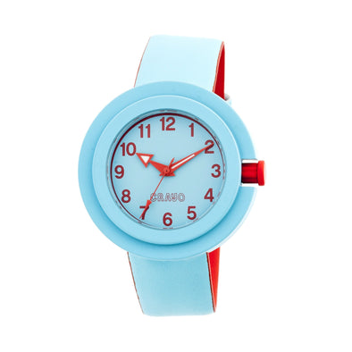 Crayo Equinox Unisex Watch - Cerulean/Red CRACR2805