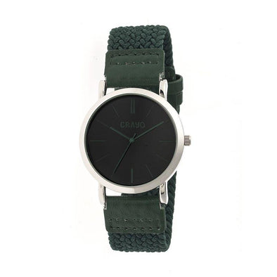 Crayo Symphony Braided-Nylon-Band Unisex Watch - Forest Green CRACR2703