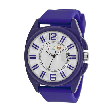 Crayo Sunset Unisex Watch w/Magnified Date - Purple CRACR3303