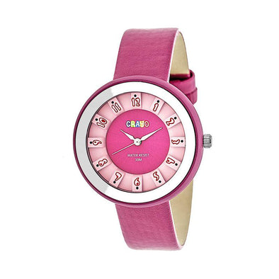 Crayo Celebration Leather-Band Watch - Pink CRACR3402
