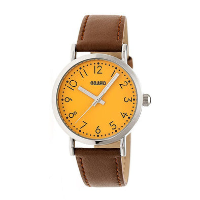 Crayo Pride Leather-BandWatch - Orange CRACR3802