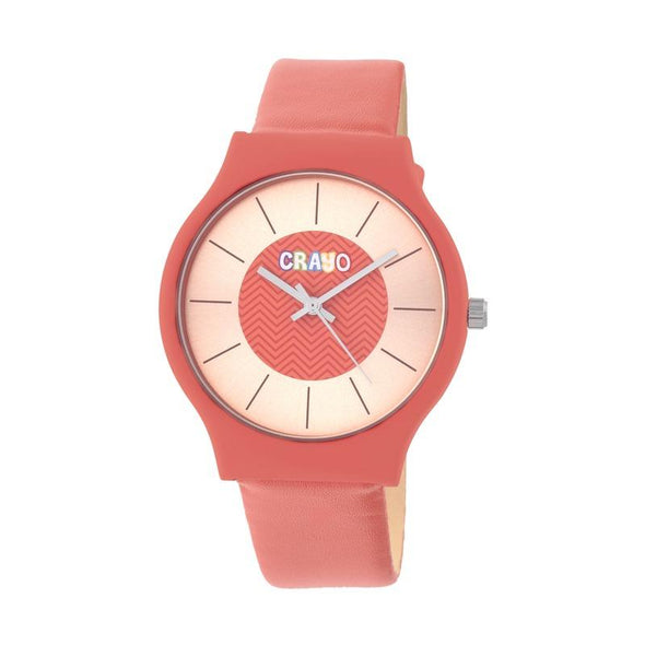 Crayo Trinity Strap Watch - Red CRACR4402