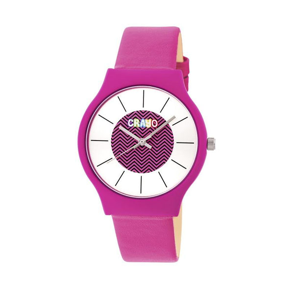Crayo Trinity Strap Watch - Hot Pink CRACR4406