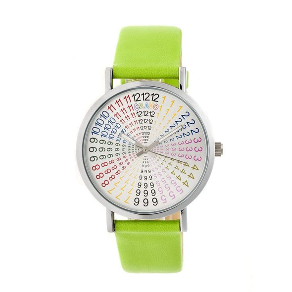 Crayo Fortune Strap Watch - Silver/Lime CRACR4301