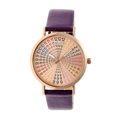 Crayo Fortune Strap Watch - Rose Gold/Plum CRACR4306