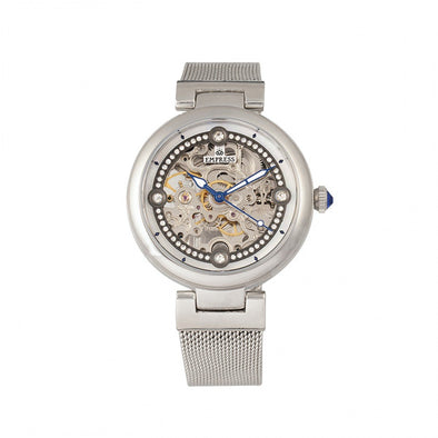 Empress Adelaide Automatic Skeleton Mesh-Bracelet Watch - Silver EMPEM2501