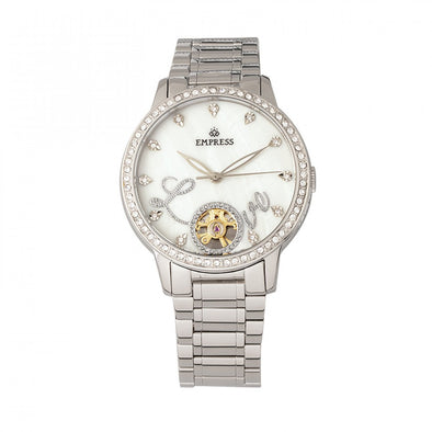 Empress Quinn Semi-Skeleton Dial Bracelet Watch - Silver EMPEM2701