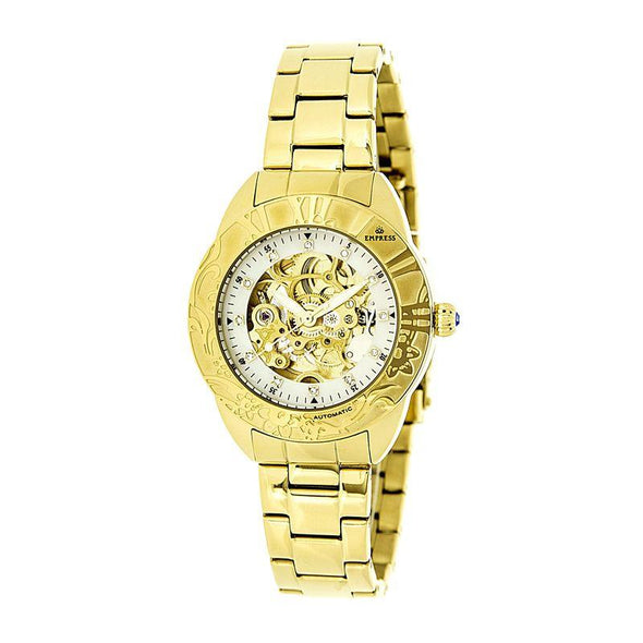 Empress Godiva Automatic MOP Bracelet Watch - Gold/White EMPEM1104