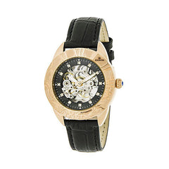 Empress Godiva Automatic MOP Leather-Band Watch - Rose Gold/Black EMPEM1107