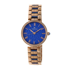 Empress Catherine Automatic Hammered Dial Bracelet Watch - Blue EMPEM1905