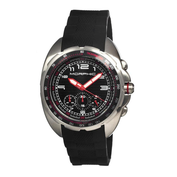 Morphic M25 Series Chronograph Men's Watch - Silver/Black MPH2502