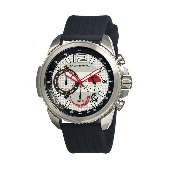 Morphic M28 Series Chronograph Men's Watch w/ Date - Silver MPH2801