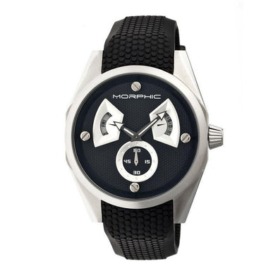 Morphic M34 Series Men's Watch w/ Day/Date - Silver/Black MPH3402