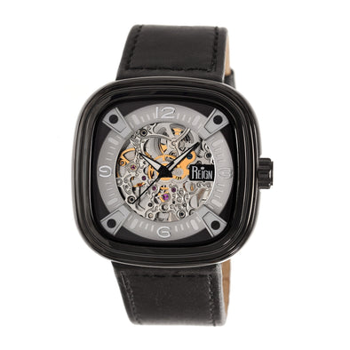 Reign Nero Automatic Skeleton Dial Leather-Band Watch - Black REIRN4806