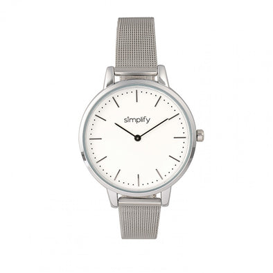 Simplify The 5800 Mesh Bracelet Watch - Silver SIM5801