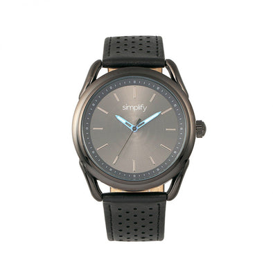 Simplify The 5900 Leather-Band Watch - Black SIM5906