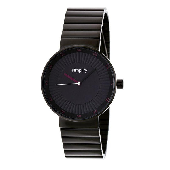 Simplify The 4600 Bracelet Watch - Charcoal/Fuchsia SIM4605