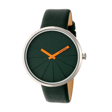 Simplify The 4000 Leather-Band Watch - Forest Green SIM4002