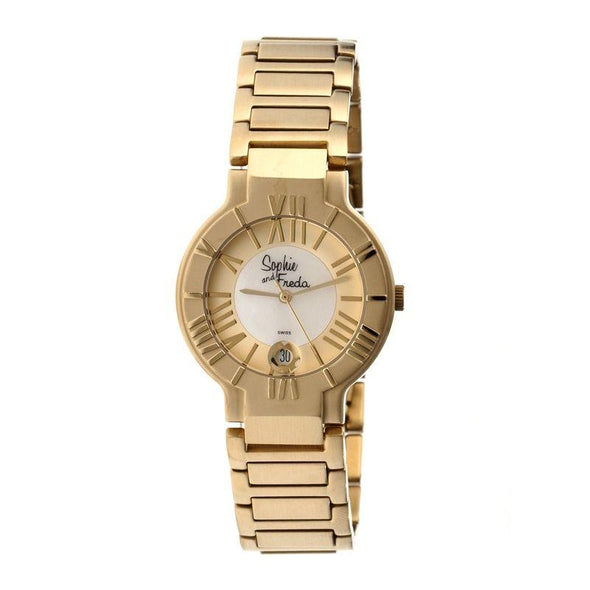 Sophie & Freda Rushmore MOP Ladies Bracelet Watch - Gold/White SAFSF1206