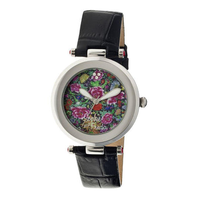 Sophie & Freda Hidcote Leather-Band Ladies Watch - Black SAFSF1601