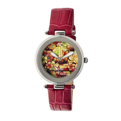 Sophie & Freda Kew Leather-Band Ladies Watch - Red SAFSF1802