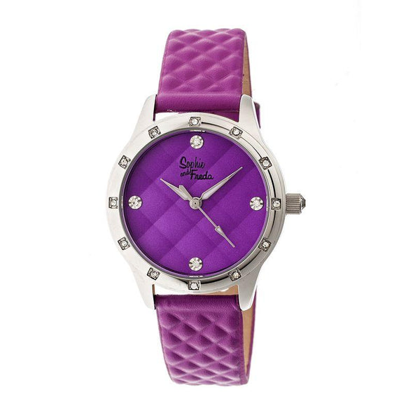 Sophie & Freda Lancaster Leather-Band Ladies Watch - Fuchsia SAFSF3208