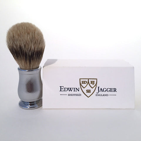 Edwin Jagger Chatsworth Style, Barley, Chrome Shaving Brush
