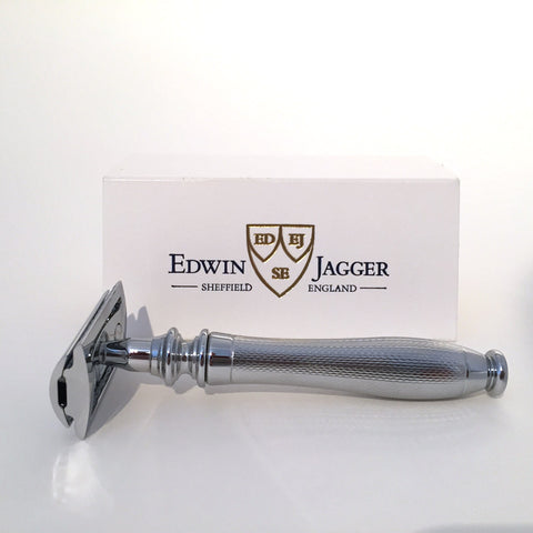 Edwin Jagger Chatsworth Style, Barley, Chrome DE/Safety Razor