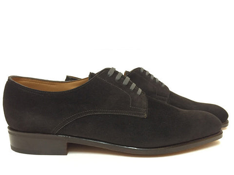 Penzance In Dark Grey Cashmere Suede