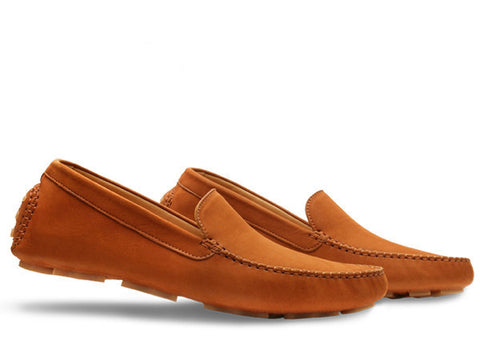Driver - Casual Moccasin in Sand Velveteen Calf