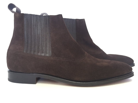 Watton in Dark Brown Suede - Size 10.5E (Medium)
