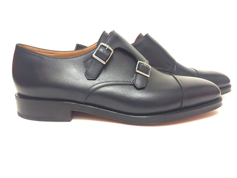 William in Navy Buffalo Calf - 9795
