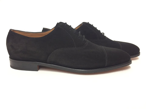 City II in Black Suede - Size 10EE (Wide)