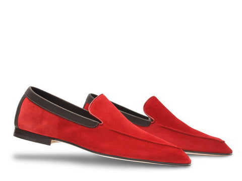 JL Lucca for Paul Smith in Cherry Red Suede