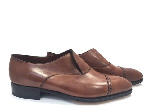 Philip II Loafer in Chestnut Misty Calf - Size 10.5E (Medium)