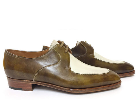 Portman in Antique Green Ultra Calf & White Museum Calf - Size 7E (Sample)