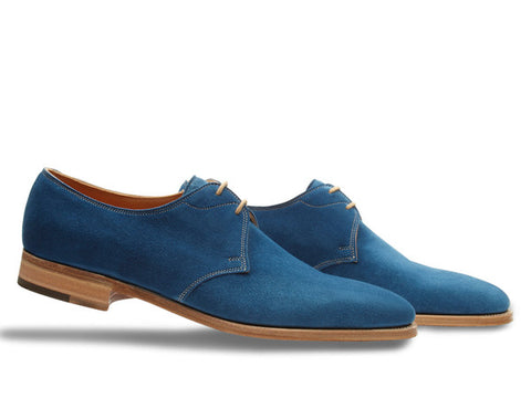 JL Willoughby for Paul Smith in Ocean Blue Suede - 8000
