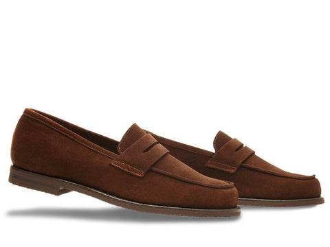 Campus 12 - Penny Loafer in Dark Brown Suede - Size 5.5E