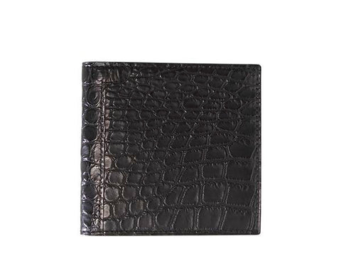 John Lobb Wallet - Black Crocodile