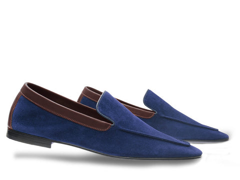JL Lucca for Paul Smith in Ink Blue Suede