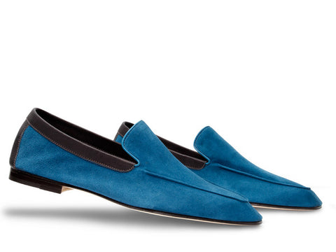 JL Lucca for Paul Smith in Sea Blue Suede