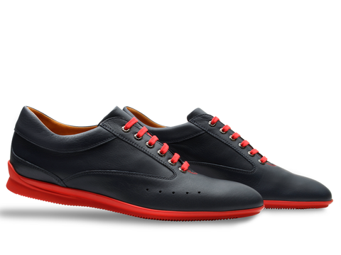 Winner Sport Shoes - by John Lobb For Aston Martin - in Storm Black Racing Calf
