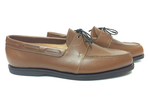 Livonia in Burnt Sienna Dune Calf With Dark Yacht Soles