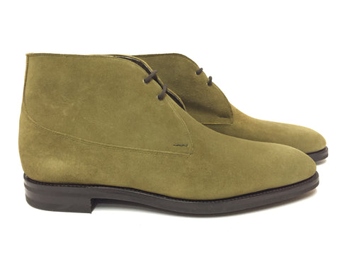 St Crépin 2012 in Loden Green Suede - 7000