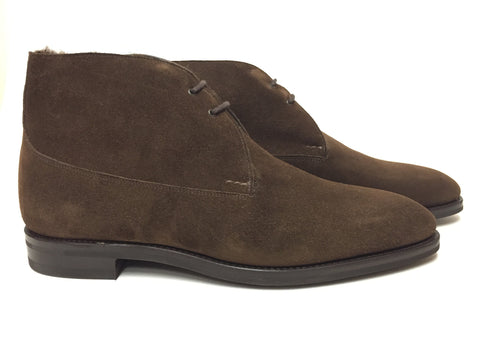 St Crépin 2012 in Dark Brown Suede - Size 6EE