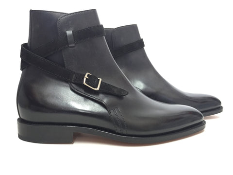 Abbot in Black Calf & Suede - 8695