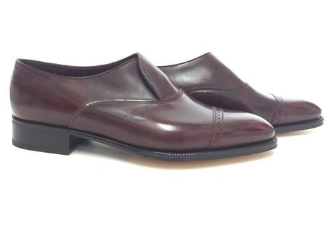 Philip II Loafer in Claret Misty Calf - Size 5.5E