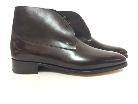 St Crépin 2012 in Dark Brown Misty Calf - Size 10EE (Wide)