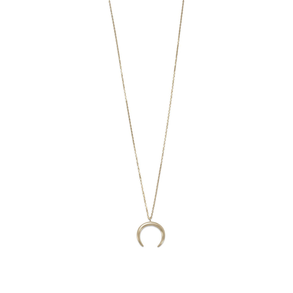 Load image into Gallery viewer, 14 Karat Gold Plated Crescent Necklace